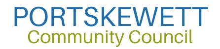 Portskewett Community Council Logo High Contrast